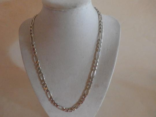 Other NEW UNISEX Sterling Silver Figaro Chain 20' 34.5 GRAMS Image 2