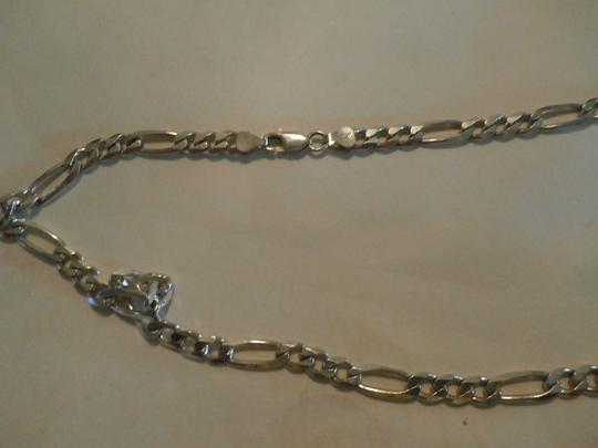 Other NEW UNISEX Sterling Silver Figaro Chain 20' 34.5 GRAMS Image 3