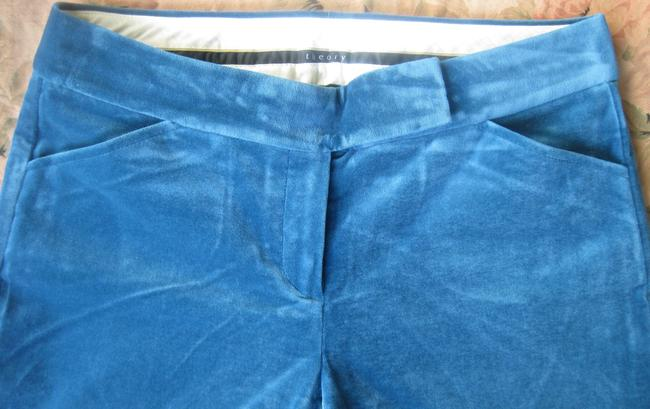 Theory Stretch Velvet Trouser Pants Sapphire Blue