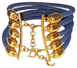 Dior Denim Multi Strand Rope Choker