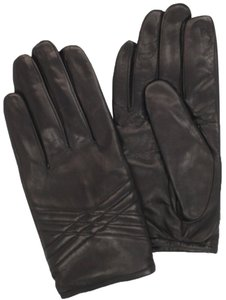 Vince Camuto Vince Camuto Women's Leather Quilted Contrast Glove ~ Black ~ X-Large