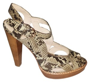 Coach Leather Sandal Platform Python Platforms