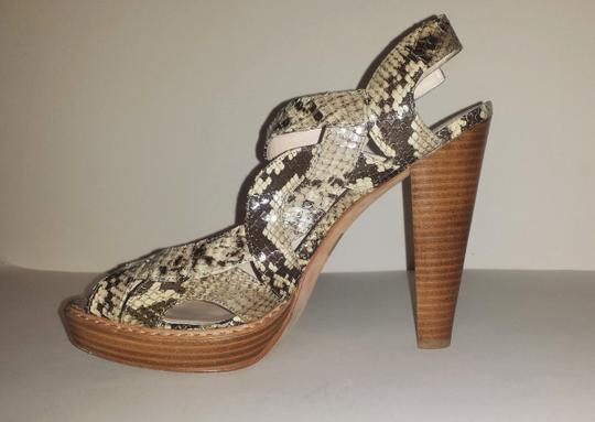 Coach Leather Sandal Python Platforms