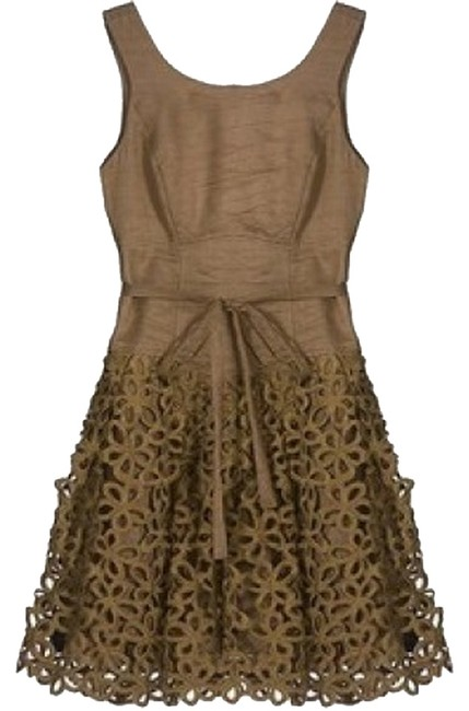 Preload https://img-static.tradesy.com/item/1162587/robert-rodriguez-brown-gold-mocha-floral-butterfly-above-knee-cocktail-dress-size-4-s-0-0-650-650.jpg