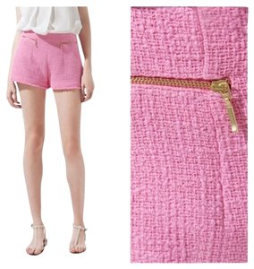 Zara Tweed Boucle Fantasy Dress Shorts Pink