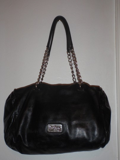 Cole Haan Maria Shaaparova Purse Chain Leather Tote Shoulder Bag