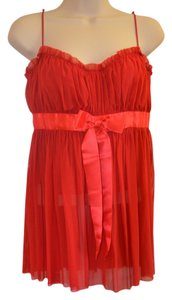 Moda International Party Satin Lace Corset Top Red