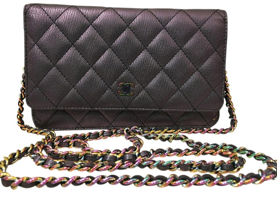 cbd67515811f Chanel Quilted Metallic Hardware Leather Caviar Woc Wallet On Chain Cross  Body Bag Image 0 ...