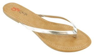 Red Circle Footwear Silver Sandals
