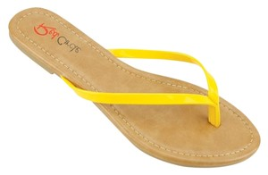Red Circle Footwear Yellow Sandals