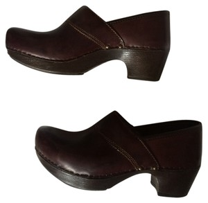 Dansko Comfortable Raisin, wine, purple, brown Mules
