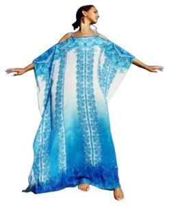 Paris. Maxi Dress by Victoria Luxury Silk Kaftan 100% Kaftan