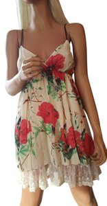 Other short dress OffWhite/Red Flowers on Tradesy
