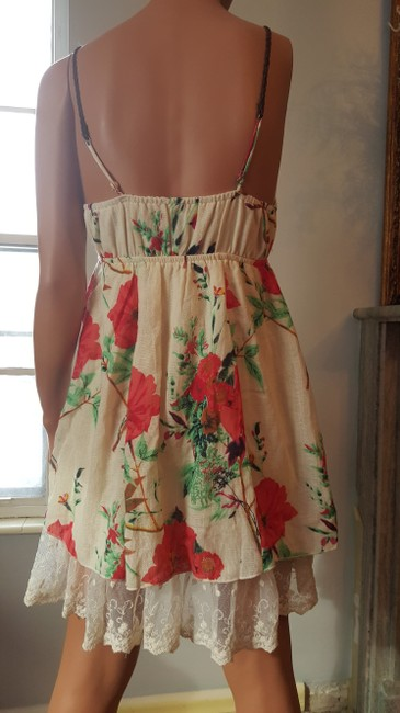 Other short dress OffWhite/Red Flowers on Tradesy Image 1