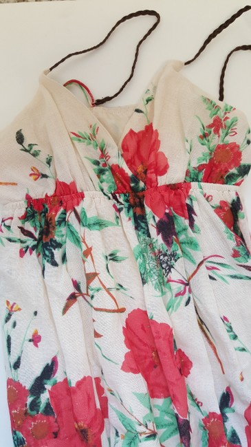 Other short dress OffWhite/Red Flowers on Tradesy Image 4