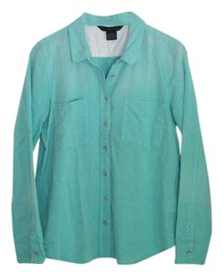 Calvin Klein Button Down Shirt Shirt Button Down Shirt Ocean Green