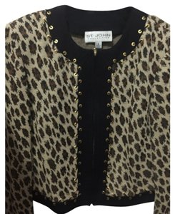 St. John Animal print Blazer