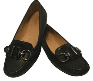 Coach All Leather Black Flats