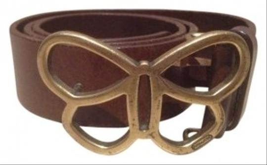 Coach Signature belt with Butterfly Buckle #3508