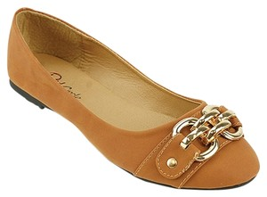Red Circle Footwear Cognac Flats