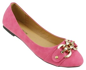 Red Circle Footwear Fuchsia Flats