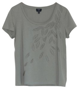 Talbots Leaves Leaf T Shirt Green