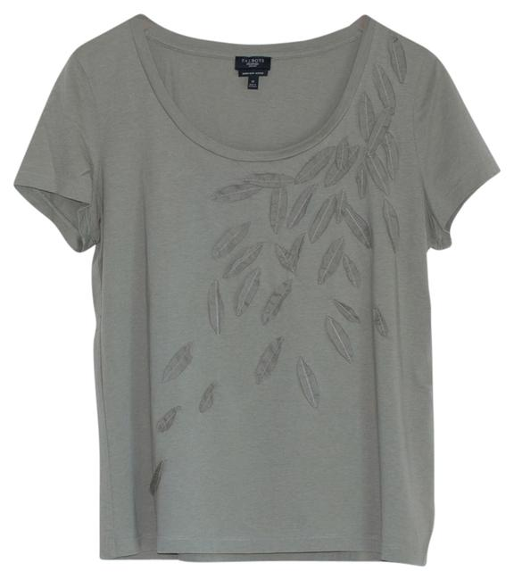 Talbots T-shirt Leaves Leaf T Shirt Green