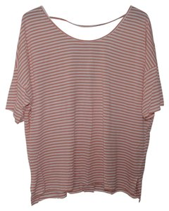 Old Navy Strappy Shirt Top Orange/White Stripe