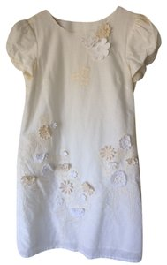 Corey Lynn Calter short dress Ivory/ Cream/White Applique on Tradesy
