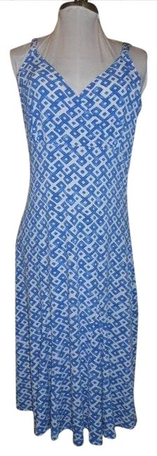 Preload https://img-static.tradesy.com/item/1163158/ak-anne-klein-blue-and-white-knit-mid-length-casual-maxi-dress-size-8-m-0-0-650-650.jpg