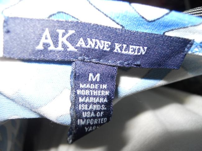 blue & white Maxi Dress by AK Anne Klein