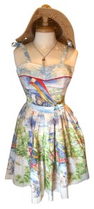 Bernie Dexter short dress Koi Fish Print Vintage Pin-up on Tradesy