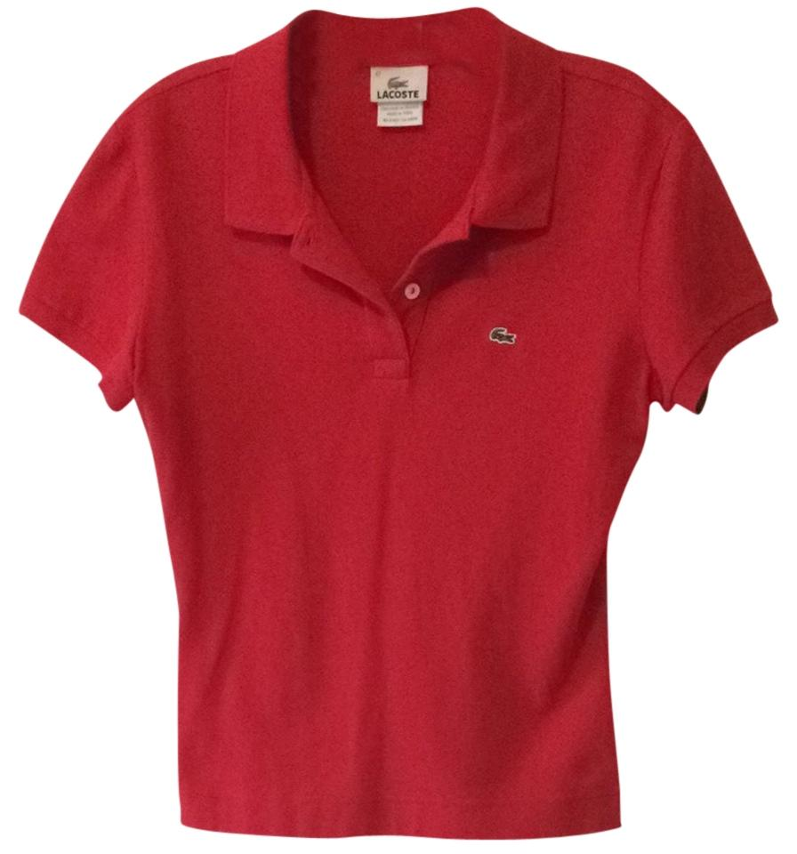 43d1cd449 Lacoste Red Classic 2 Button Polo Button-down Top Size 10 (M) - Tradesy