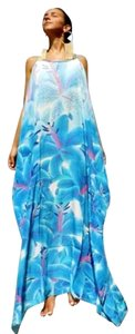 blue Maxi Dress by Victoria Luxury Silk
