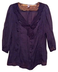 Charlotte Russe Top Navy blue