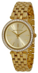 Michael Kors Gold tone Crystal Accent Ladies Designer Dress Watch