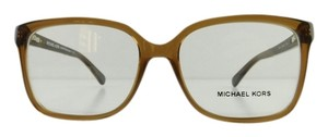 Michael Kors Michael Kors Eyeglasses Whitsundays Gold Beige Brown Acetate Full-Frame 55mm