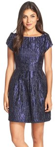 Aidan Mattox Jacquard Fit & Flare Cocktail Dress
