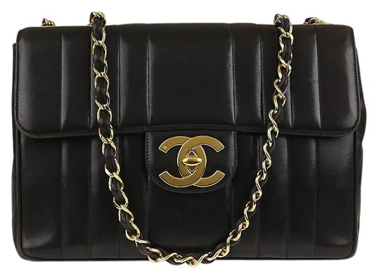 Chanel Vintage Jumbo Classic Flap Vertical Shoulder Bag Image 1