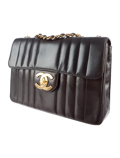 Chanel Vintage Jumbo Classic Flap Vertical Shoulder Bag Image 2