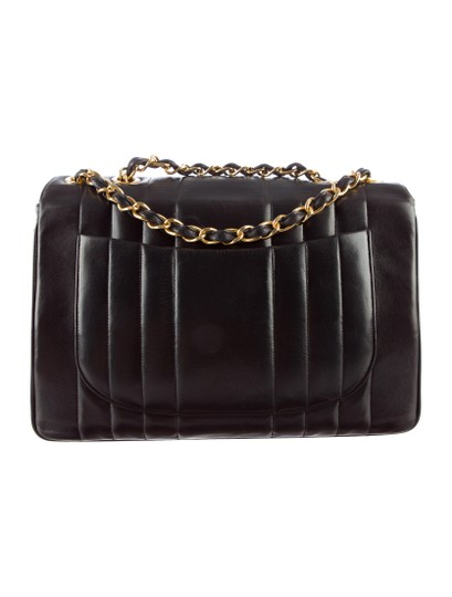 Chanel Vintage Jumbo Classic Flap Vertical Shoulder Bag Image 3