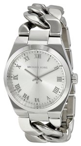 Michael Kors Chain Link Silver Tone Fashion Designer Ladies Watch