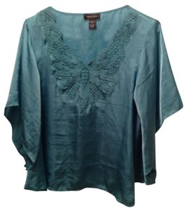 Spense Top Aqua Blue