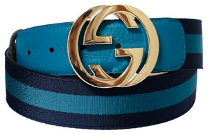 Gucci GUCCI 114876 Nylon Web Belt with Interlocking G Buckle 85 - 34