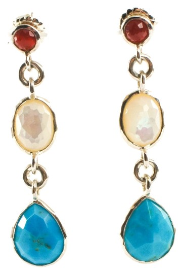 Ippolita Ippolita Earrings Sterling Silver Turquoise Mother of Pearl Garnet Grotto .925