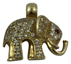 Elephant Charm 14K Yellow Gold Elephant Charm 4.3gr 14K