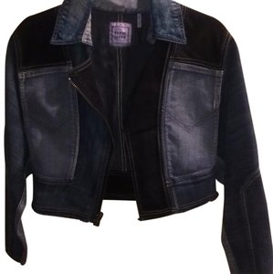 Hervé Leger Blue jean Womens Jean Jacket