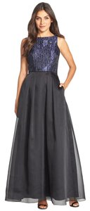 Aidan Mattox Sleeveless Jacquard & Organza Ballgown Dress