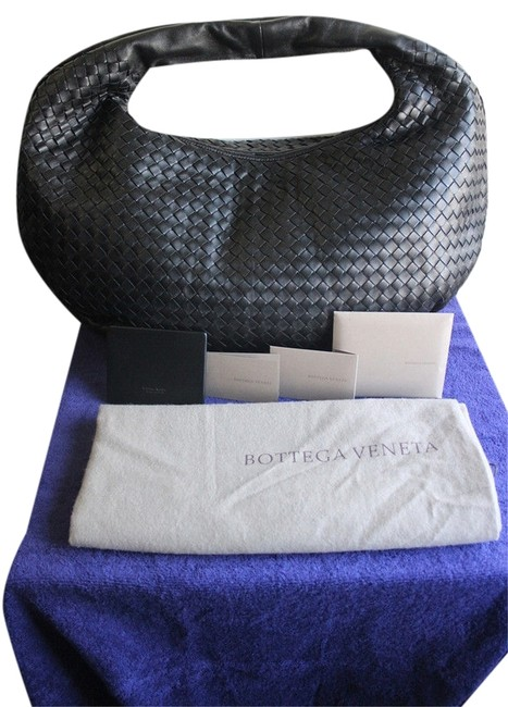 Item - Intrecciato Woven Large Belly Nero Without Tag Black Leather Hobo Bag