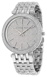 Michael Kors Silver tone Crystal Pave Ladies Glam Designer Watch